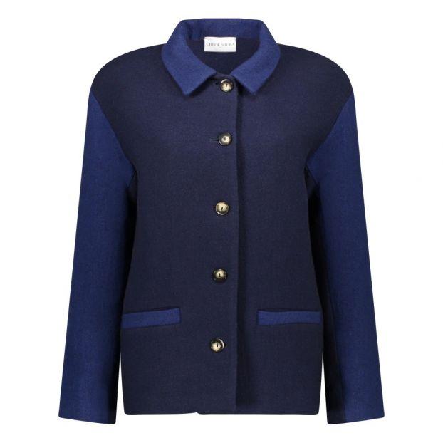 Manteau Misha Bleu marine Chloé Stora Mode Adulte b91ff7b0c08