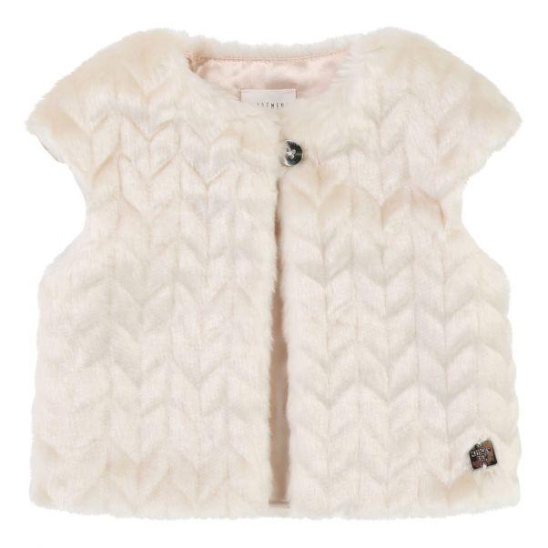 327ed6c50 Faux Fur Waistcoat Ecru CARREMENT BEAU Fashion Baby