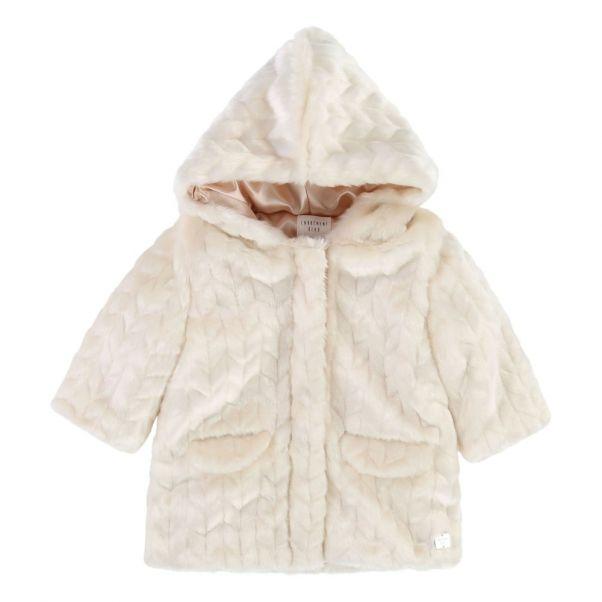 Manteau Mode Façon Carrement Bébé Fourrure Beau Ecru rrnTFR