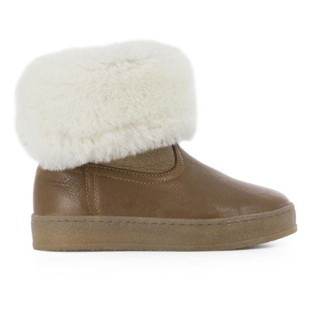 308152119230e Boots Fourrées Blitz Chabraque Caramel Pom d Api Chaussure