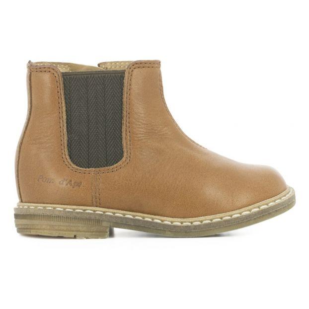 e377f45179411 Chelsea Boots Retro Jodzip Caramel Pom d Api Chaussure Bébé