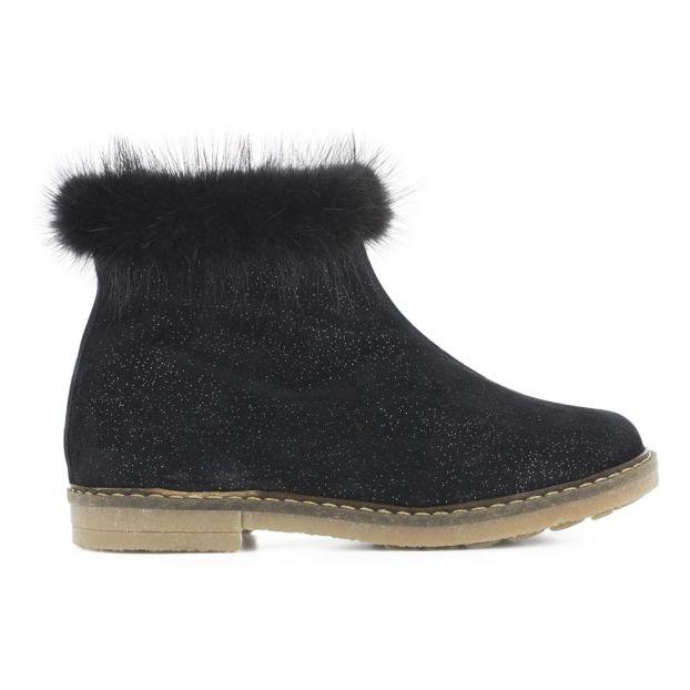 186cc74da131a Boots Trip Mink Noir Pom d Api Chaussure Enfant