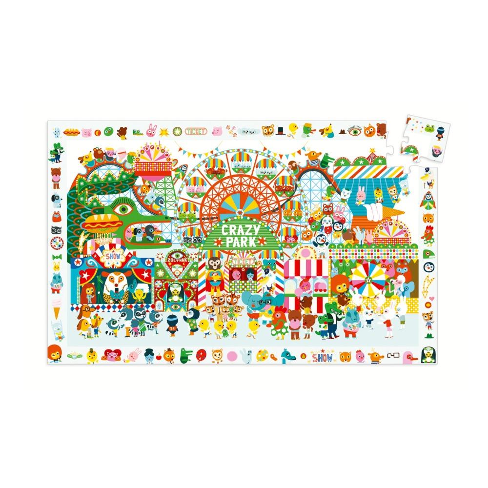 Maison Du Puzzle Paris observation puzzle crazy park - 35 pieces djeco toys and hobbies