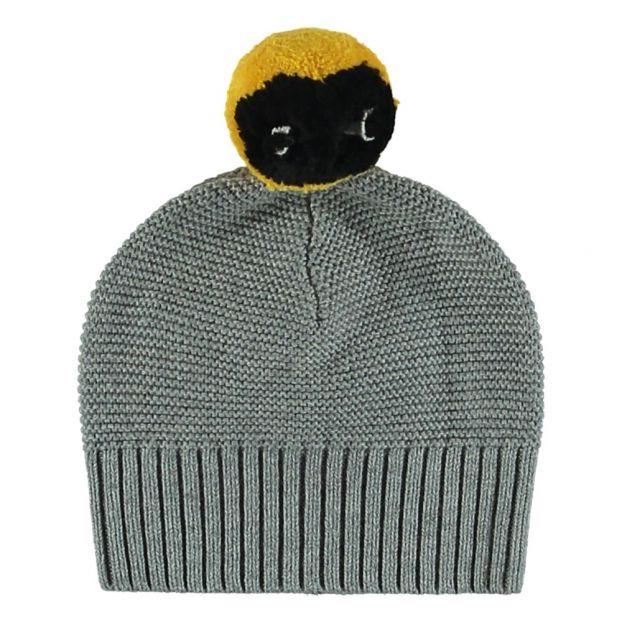 05c8208eb41 Ferret Organic Cotton and Merino Wool Hat Grey Stella McCartney