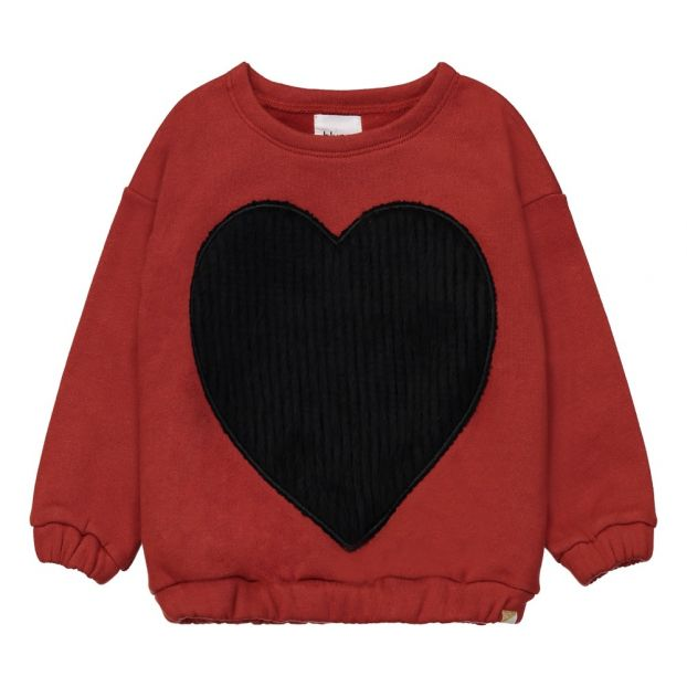 9ec7d47336ba5 Sweat Cœur Chaud Devant Bordeaux Blune Kids Mode Enfant