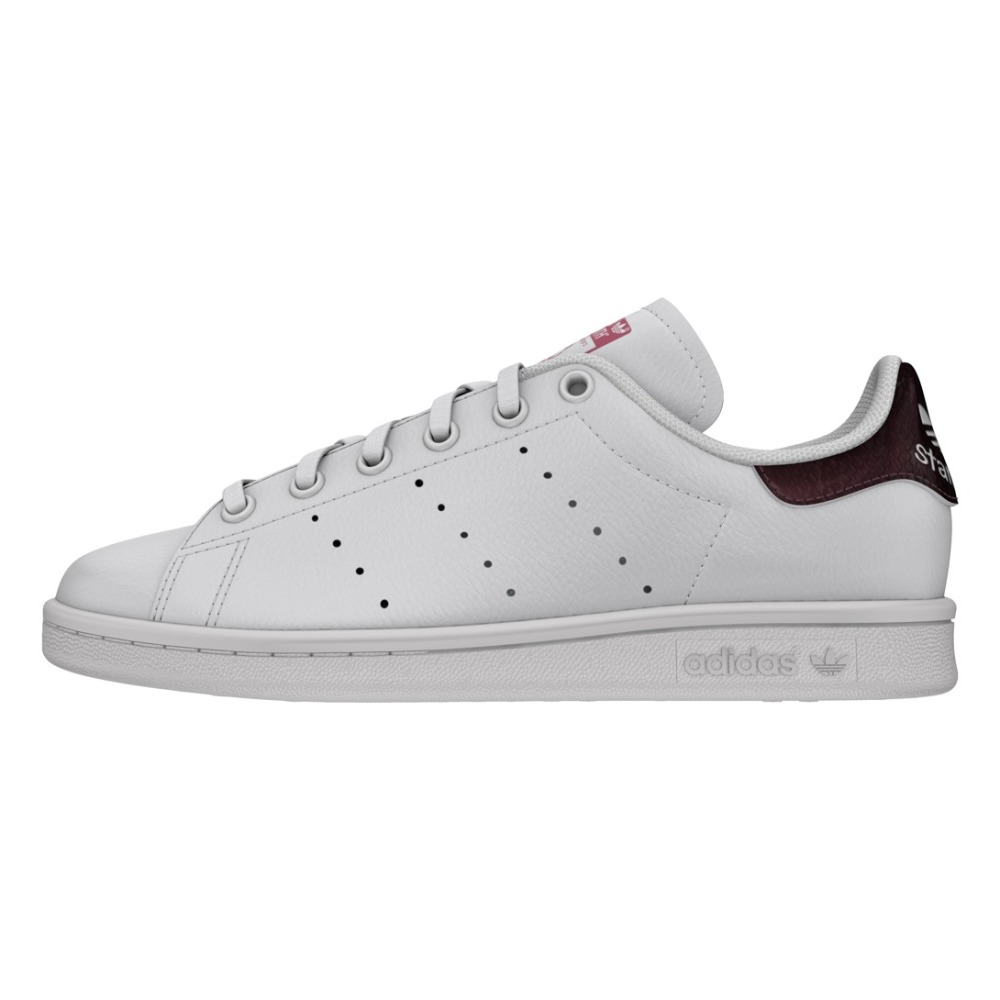 Stan Smith Snake Detail Leather Lace-up Trainers Fuchsia Adidas. «