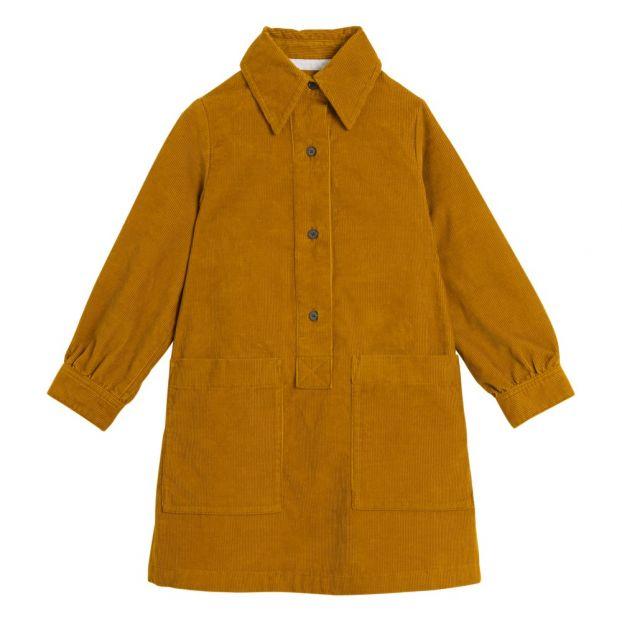 e295f2e8f065a Robe Velours Milleraies Mini Nadira Ocre Burberry Mode Adolescent