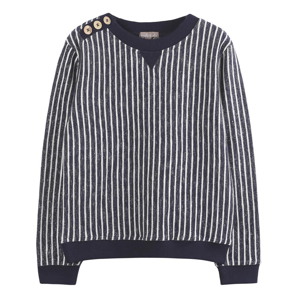 79994b5ae Striped Sweatshirt Navy blue Emile et Ida Fashion Children