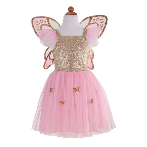 e58f96f0c3f4 Butterfly Costume with Golden Wings Great Pretenders Toys and