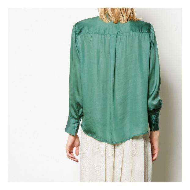 3f751e7b744e67 Camicia di Seta Samantha Verde foresta Swildens Moda Adulto