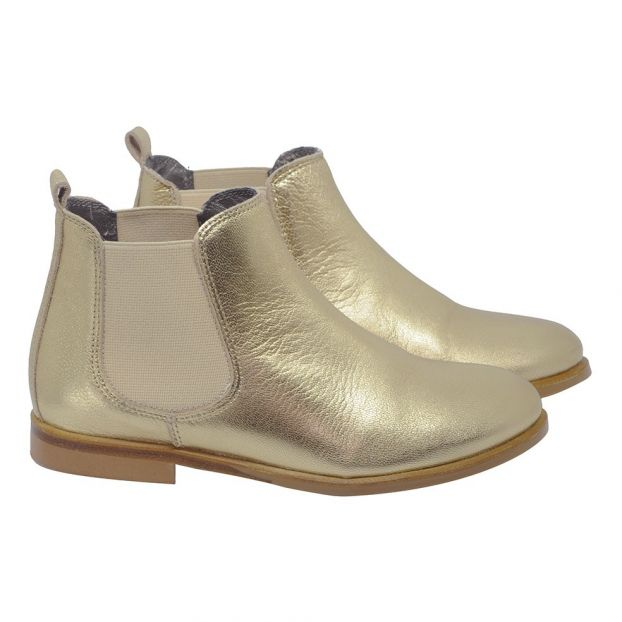 f1e4b7b19 Leather Boots Gold Bonpoint Shoes Teen , Children