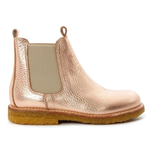 29a56811e8a80 Chelsea Boots Or rose Angulus Chaussure Enfant