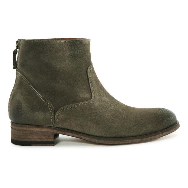 fd8fe421d511b1 Boots Plates Daim 6800 Gris Anthology Paris Chaussure Adulte