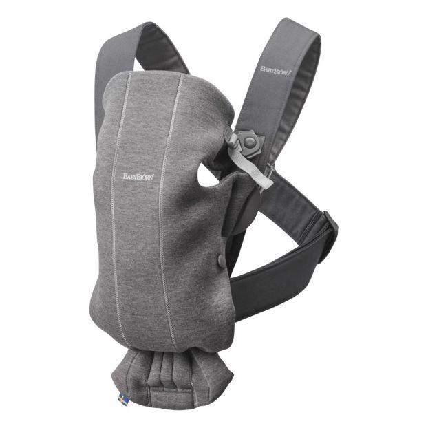 3d Jersey Mini Baby Carrier Dark Grey Babybjörn Design Baby