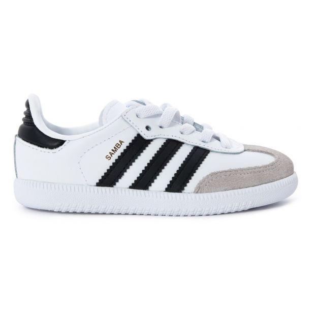 49117b0cf Zapatillas Cordones Cuero Samba Blanco Adidas Calzado Joven