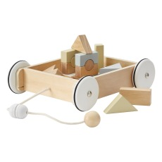 product-Kid's Concept Wooden Wagon with Blocks