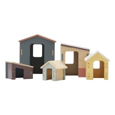 product-Kid's Concept Piccola casa in legno - Set da 5