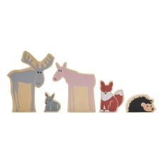 product-Kid's Concept Animals of the Woods - Set of 5