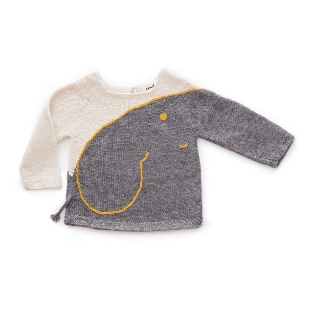 c72f0e6eb Baby Alpaca Wool Elephant Jumper Grey Oeuf NYC Fashion Baby