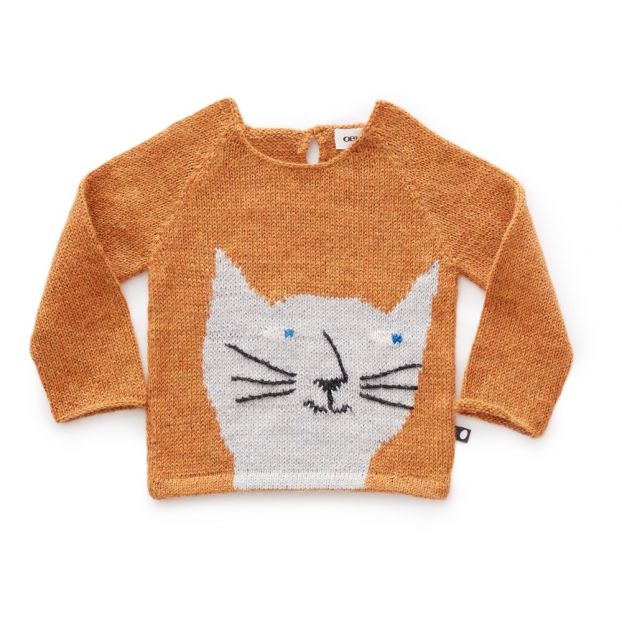 39fb44df9 Baby Alpaca Wool Cat Jumper Ochre Oeuf NYC Fashion Baby