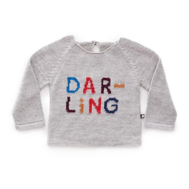 2bd868d03 Baby Alpaca Wool Darling Jumper Grey Oeuf NYC Fashion Baby