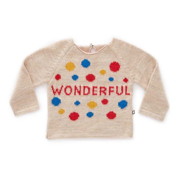 baba5ea7a Baby Alpaca Wool Wonderful Jumper Beige Oeuf NYC Fashion Baby