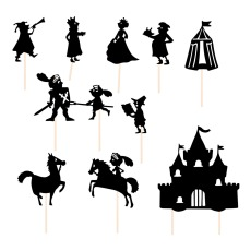 product-Moulin Roty Knights Shadows - Set of 9