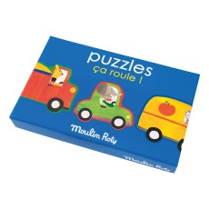 product-Moulin Roty PuzzlesCa roule ! - Set de 4