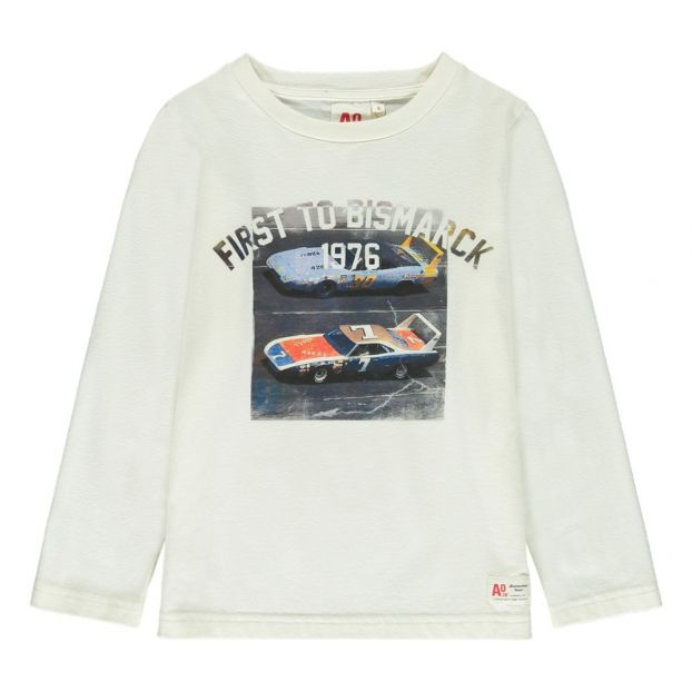 272973b55f2a6 T-Shirt Voiture Bismarck Blanc AO76 Mode Adolescent