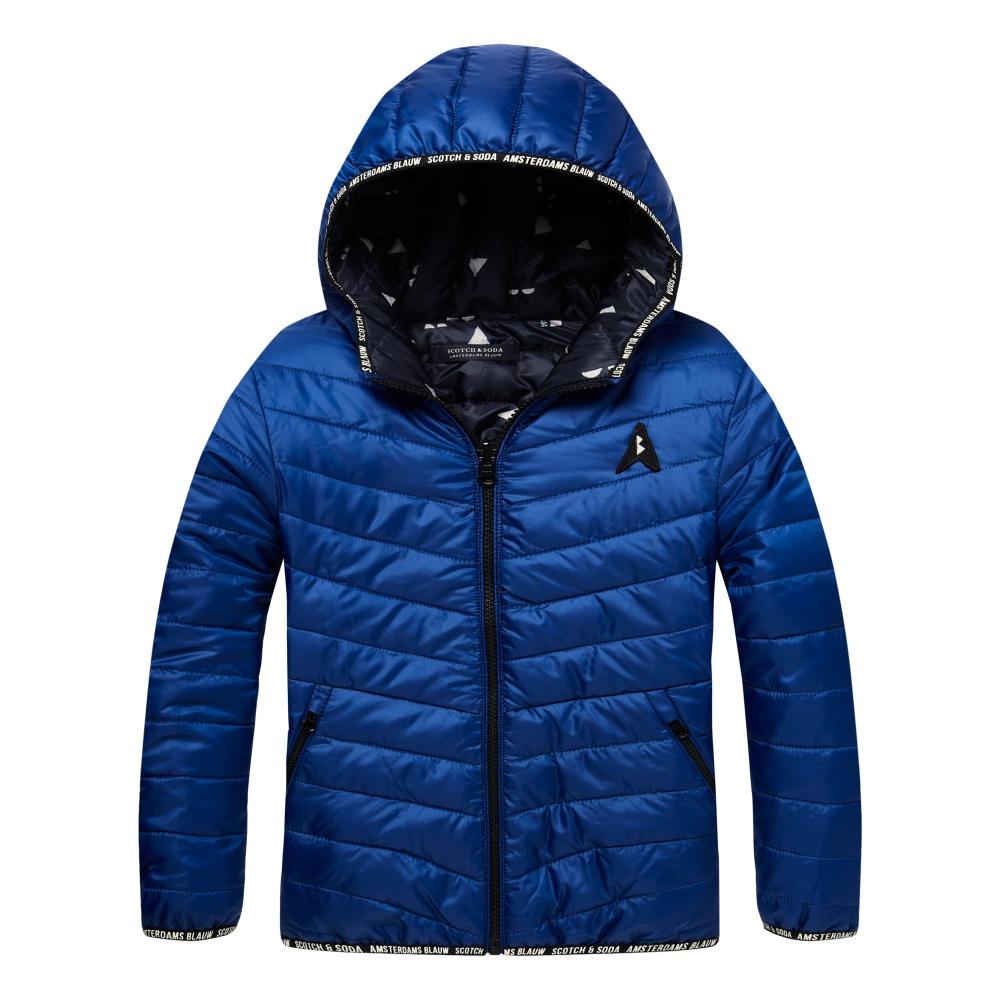 Reversible Down Jacket Blue Scotch & Soda Fashion Teen , Children. «