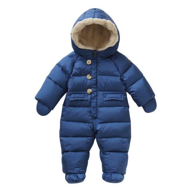 ba1e6f69e269b9 Tuta intera Piumino con Moffole Blu Il Gufo Moda Bebè