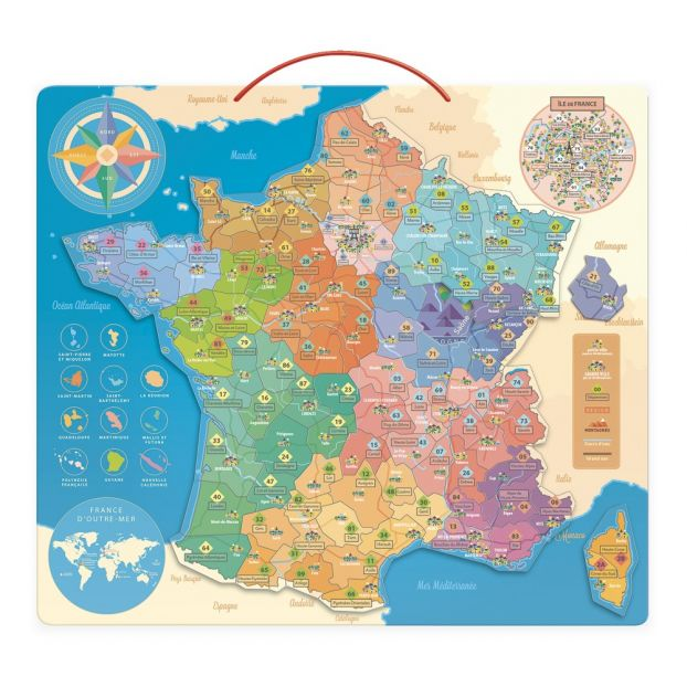 Map Of France For Children.Magnetic France Map
