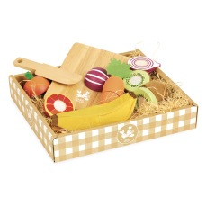 product-Vilac Wooden Fruits and Vegetables - 7 Pieces