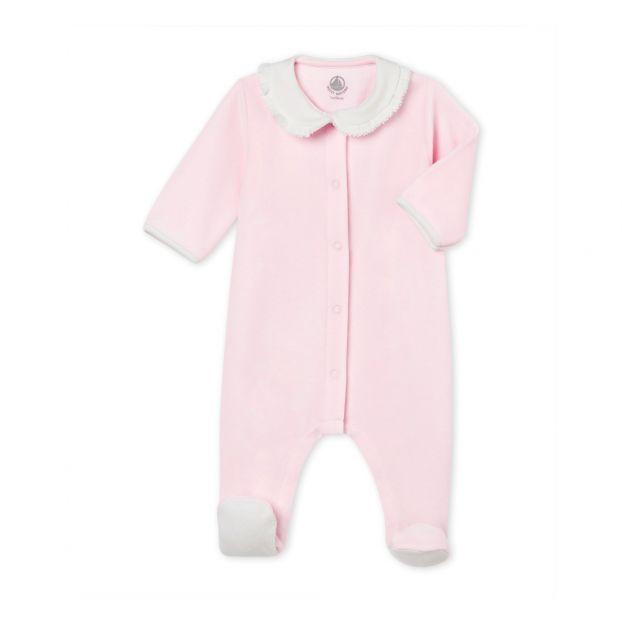 994d14c0d03f4 Pyjama à Pieds Velours Tabeur Rose pâle Petit Bateau Mode