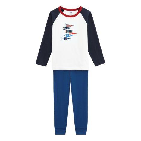96dc66b7f Pijama Tokyo Azul Marino Petit Bateau Moda Infantil