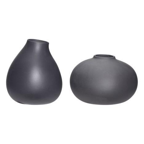 Vases Set Of 3 Dark Grey Hbsch Design Adult