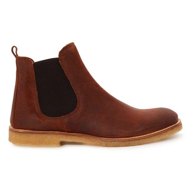 c0a3e849d9a Chelsea Boots Cuir Vieilli Camel Gallucci Chaussure Adolescent