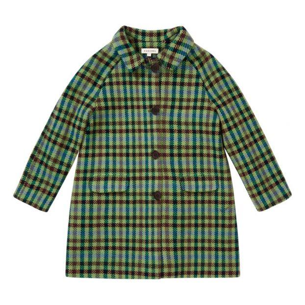ff096051b Flamingo Woolen Coat Green Caramel Fashion Baby