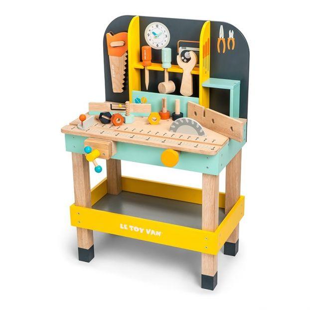 Kinder Werkbank aus Holz mit 12 Accessoires
