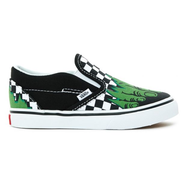 2a6437ff0164 Vans x Marvel Slip-on Black Vans Shoes Baby