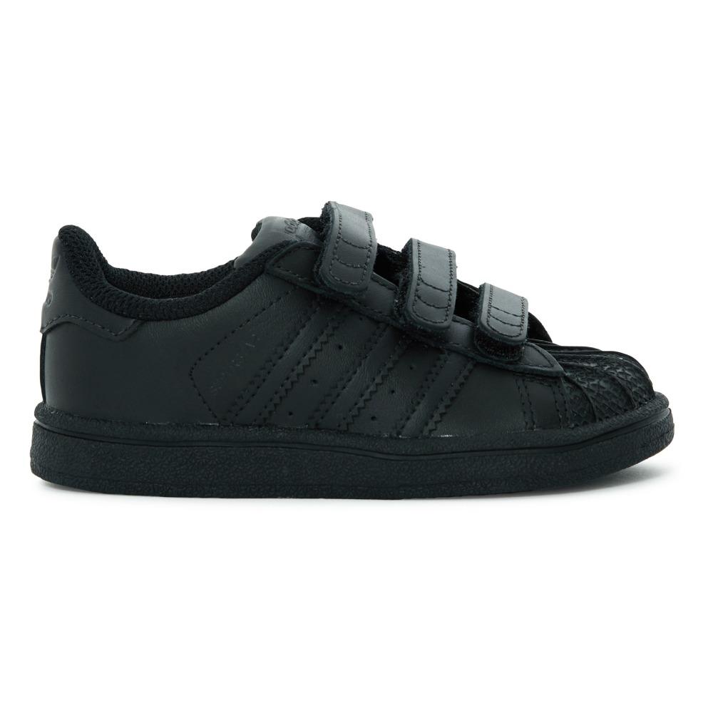 Superstar Velcro Trainers Black Adidas Shoes Baby , Children