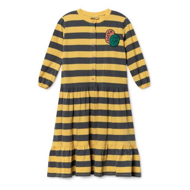 1996c3fb9f5 Organic Cotton Maxi Dress Navy blue Bobo Choses Fashion Children
