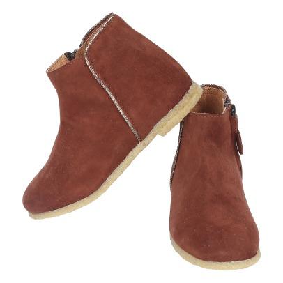 Boots Cuir Chèvre Velours Ida