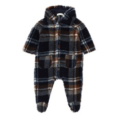 product-Zhoe & Tobiah Faux Fur Checked Snowsuit