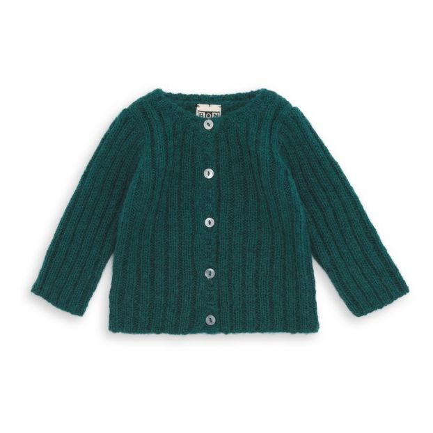 6d1dc7cef Mohair Wool Cardigan Chrome green Bonton Fashion Baby , Children