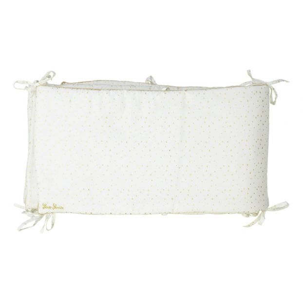 Tour de lit complet en coton imprimé fleurs Blanc Louis Louise