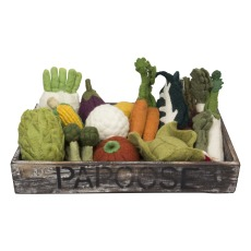 product-Papoose Felted Wool Vegetables Baske