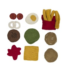 product-Papoose Felted Wool Burger and Fires