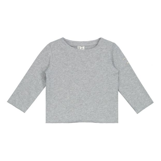 e14999afd35a2c Organic Cotton T-shirt Grey Gray Label Fashion Baby