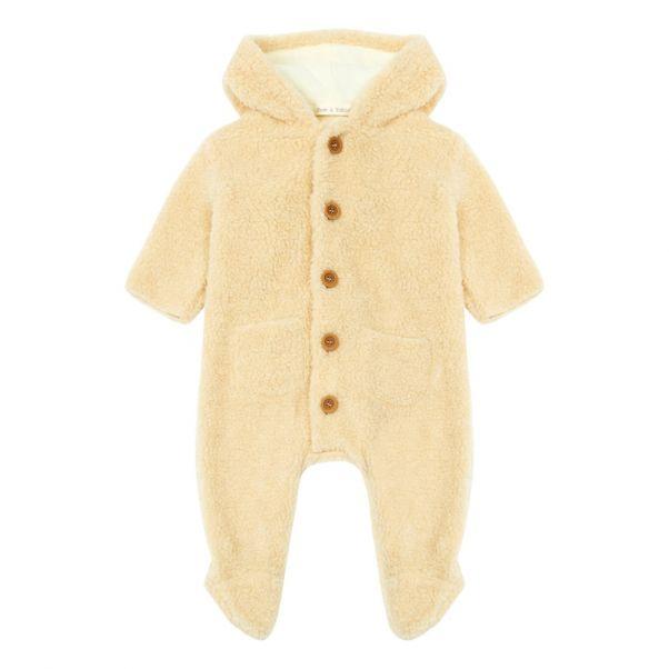 eb9c1b3c13be Faux Fur Snowsuit Ecru Zhoe   Tobiah Fashion Baby